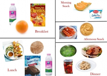 1400 Calorie Diabetic Meal Plan - Monday
