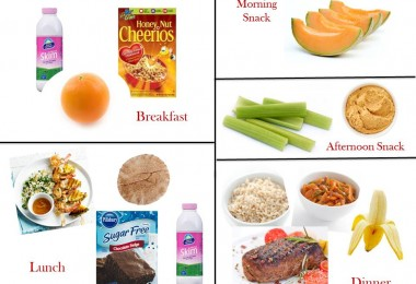 1200 Calorie Diabetic Diet Plan – Monday