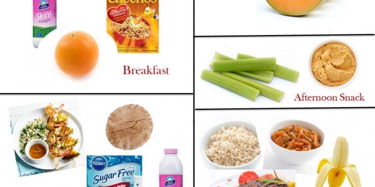 1200 Calorie Diabetic Diet Plan – Monday