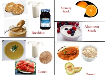 1200 Calorie Diabetic Diet Plan - Saturday