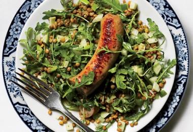 Lentils & Sausage Salad