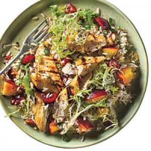 Stone Fruit Chicken-Rice Salad