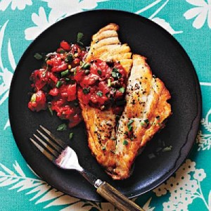 Pan Roasted Fish With Mediterranean Sauce