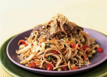 Soba Noodle Salad With Seared Tuna