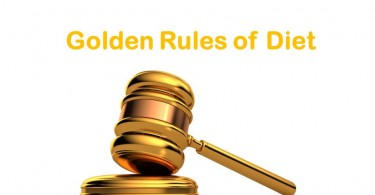GOLDEN RULES OF DIET