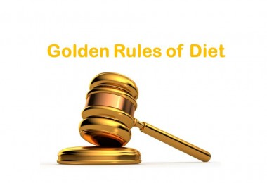 GOLDEN RULES OF DIET