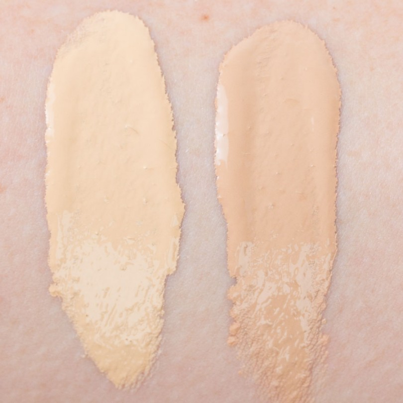 Too Faced Born This Way Foundation Swatches