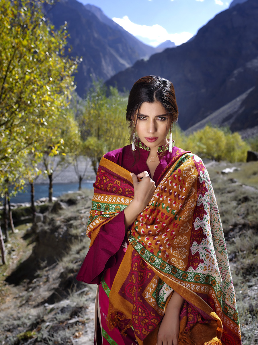 Lakhany Silk Mills Winter Shawl Collection 2016 Natural