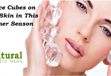 Rub Ice Cubes on Your Skin