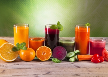 Drink Fruits and Vegetables Juices for Health and Healthy Glowing Skin