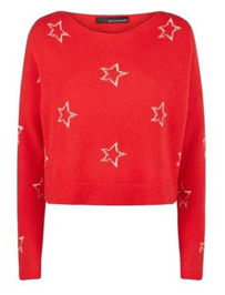 Red Stars N Breton Cashmere Sweater