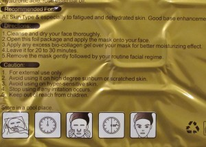 Gold Bio Collagen Facial Mask 2