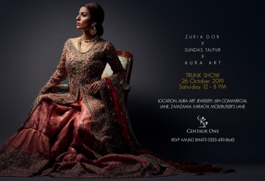 Trunk Show Invitation - Zuria Dor x Aura Art By Saba Talpur x Sundus Talpur in Karachi on Saturday 26th October from 12.00 pm to 8.00 pm (1)