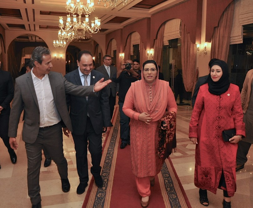 Baker Atyani Bureau Chief South Asia Arab News, Tariq Mishkhas Deputy Editor in Chief Arab News & Dr. Firdous Ashiq Awan Special Assistant to Prime Minister of Pakistan for Information & Broa (2)